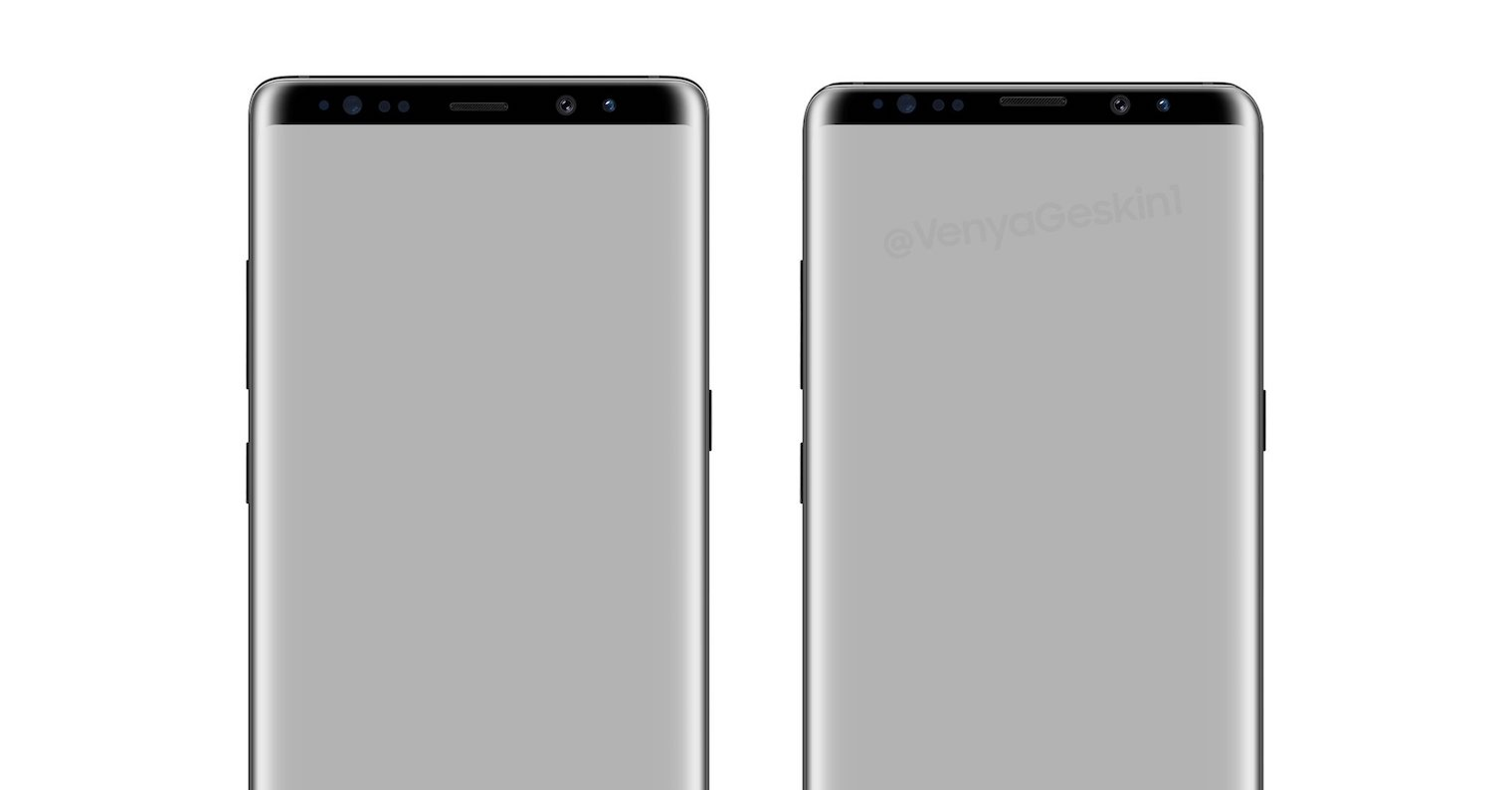 Galaxy Note 9 vs Note 8 bezels FB