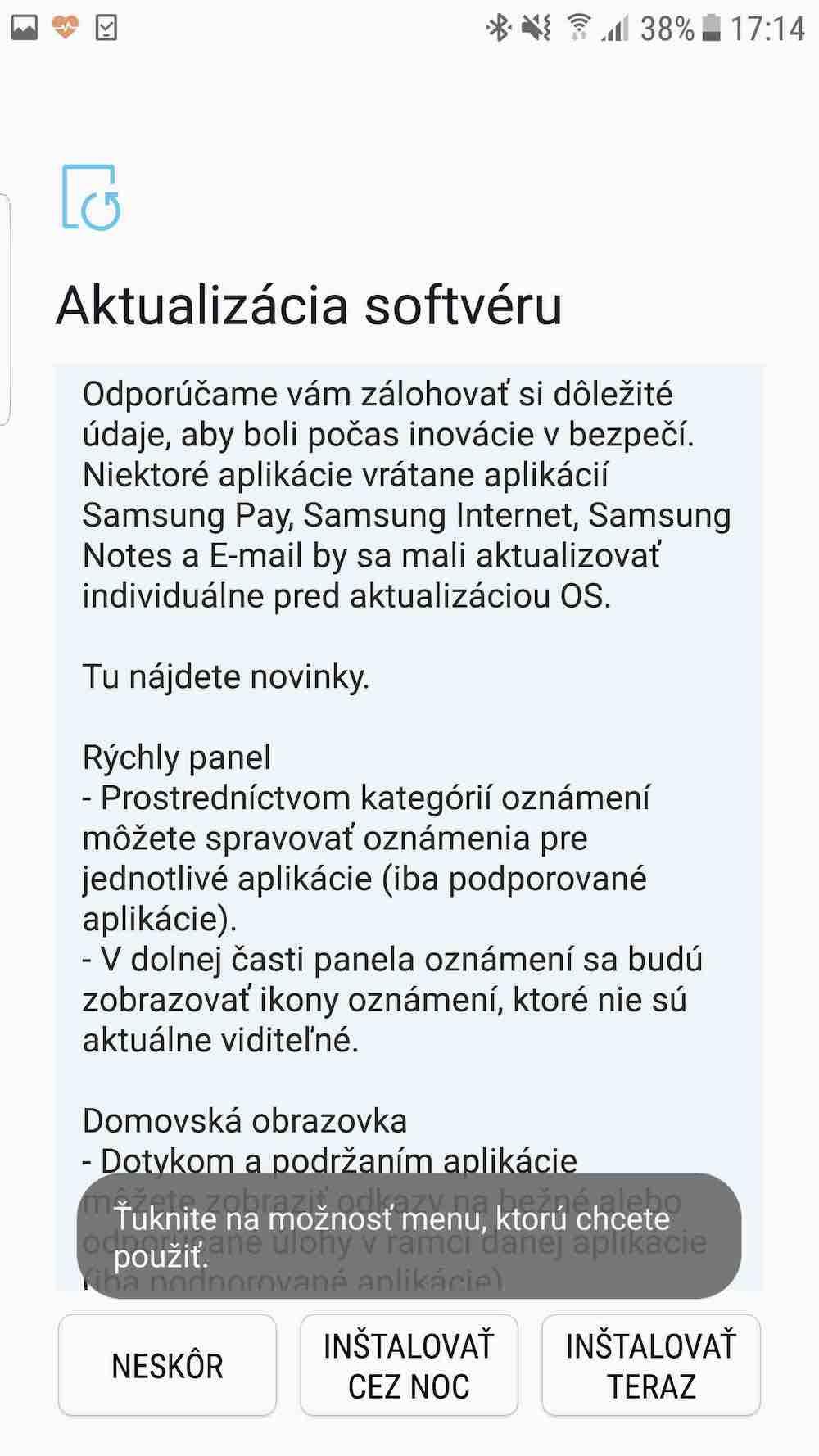 Galaxy S7 Oreo update 3