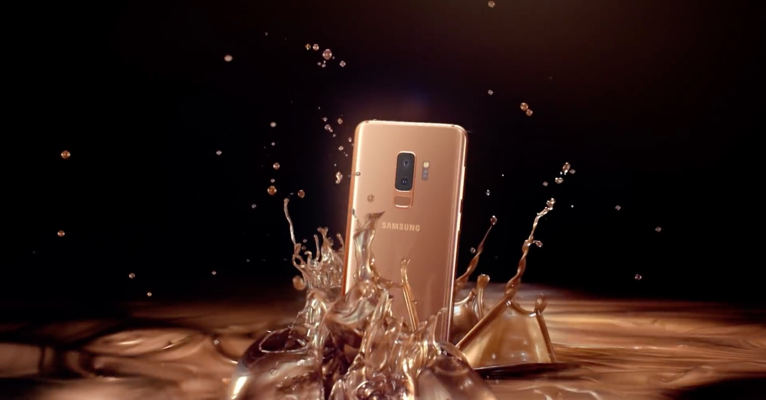 Galaxy S9 Sunrise Gold ad FB