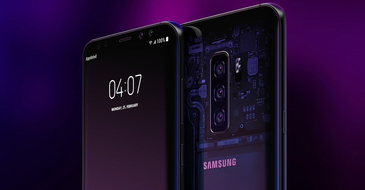 Samsung Galaxy S10 concept triple camera FB