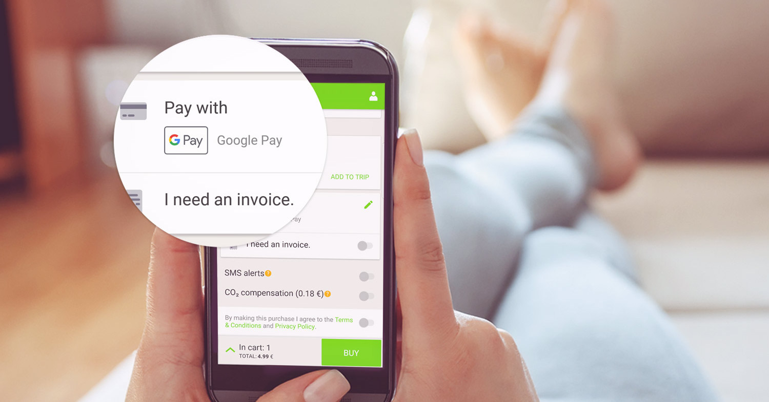FlixBus Google Pay