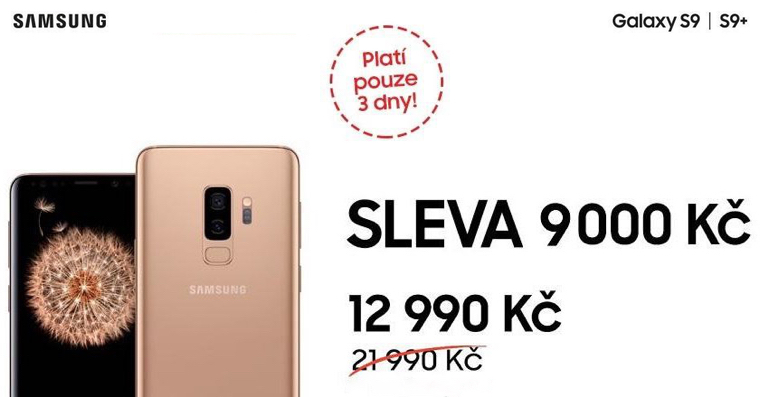 Samsung Galaxy S9 akce