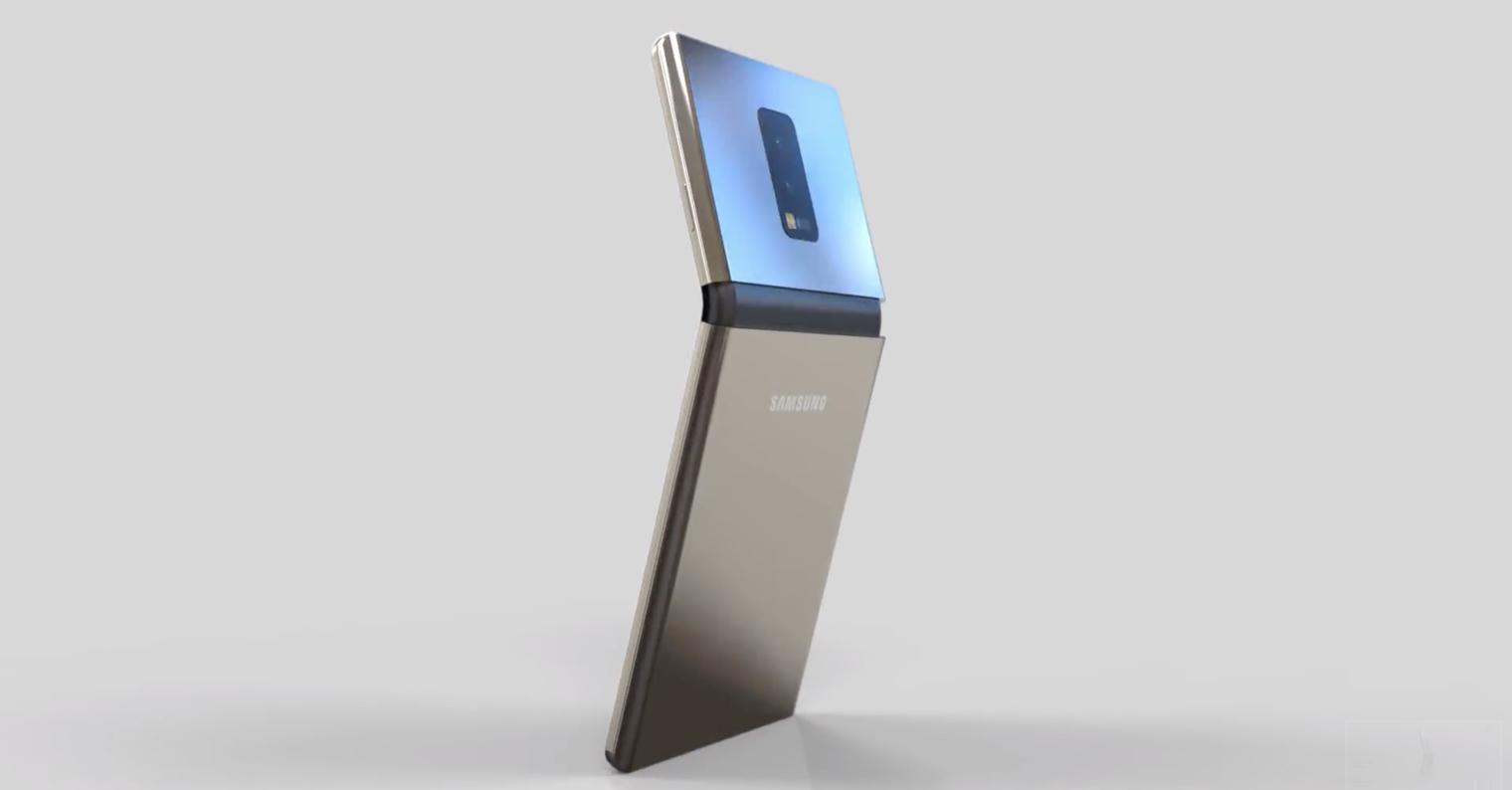 Samasung foldable smartphone FB