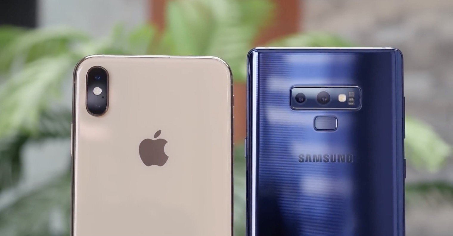 iPhone XS Max vs. Galaxy Note9 FB