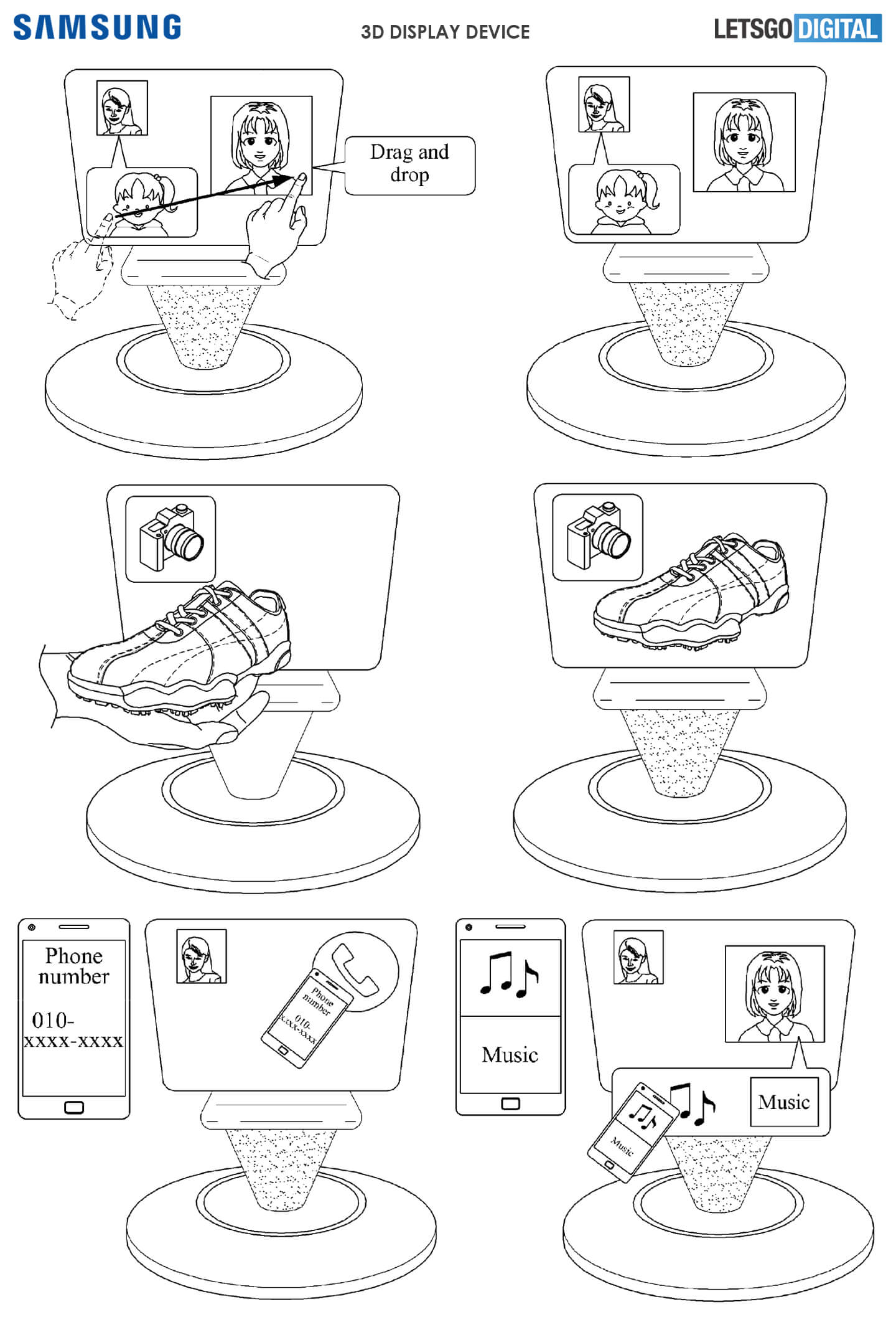 samsung 3d displej patent