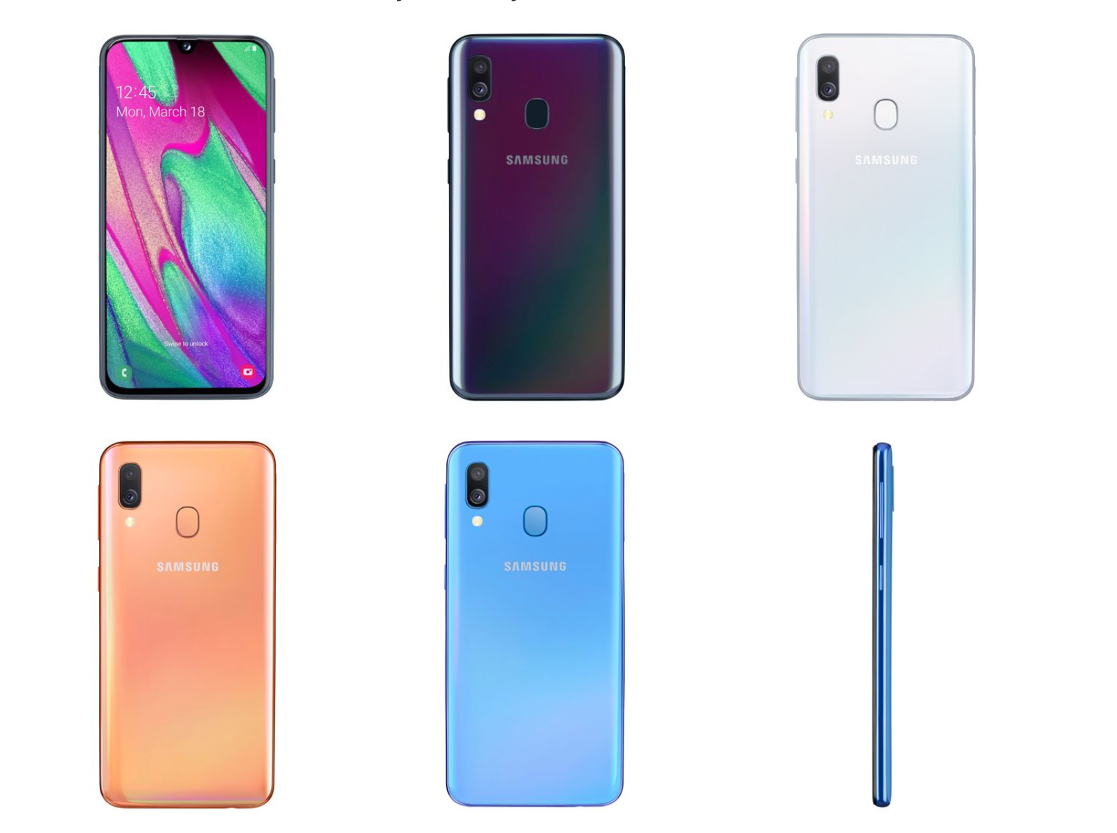 Samsung Galaxy A40 Colors fb