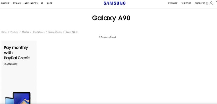 Samsung Galaxy A90 Page