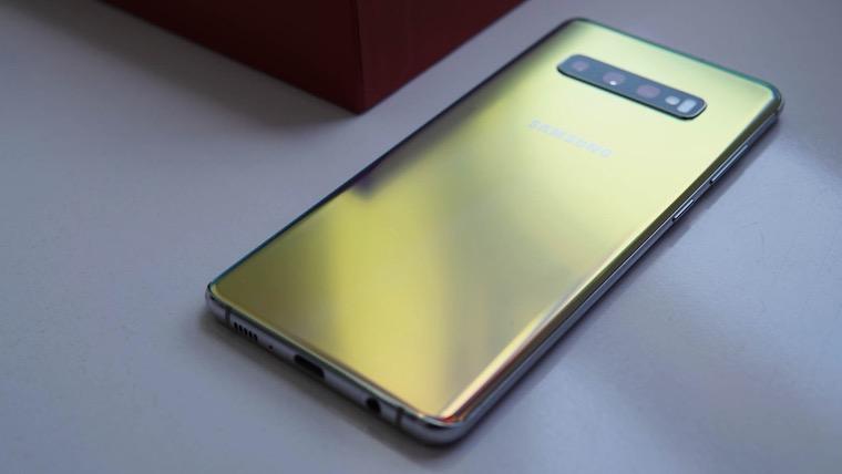 Samsung Galaxy S10+ Prism Silver fb