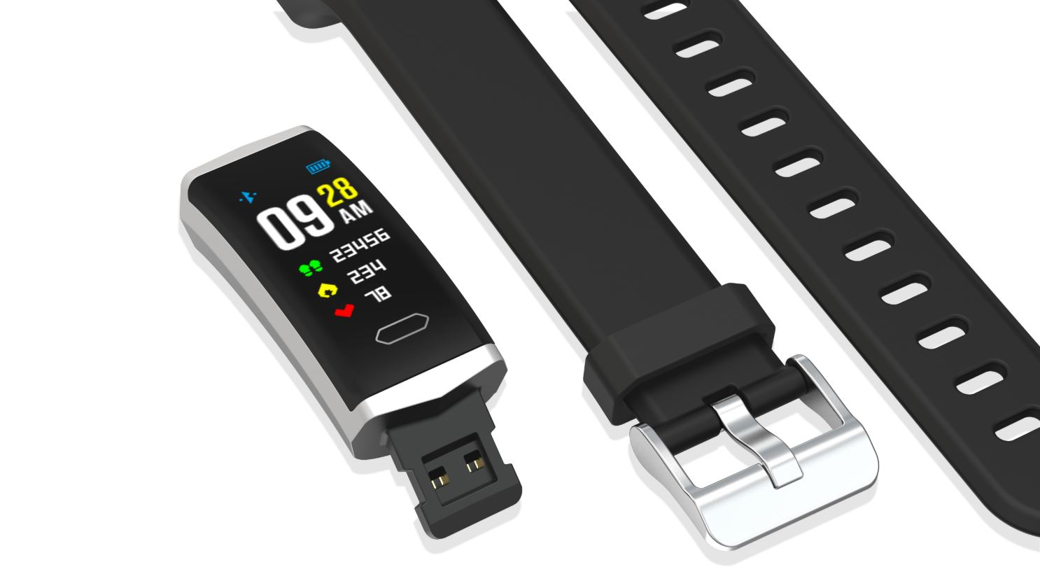 EVOLVEO_FitBand_B5_parts_top_view