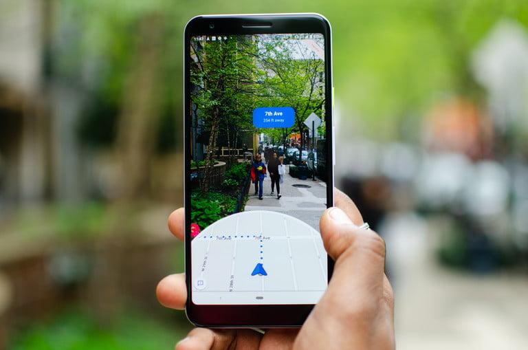 Google Mapy AR navigace DigitalTrends