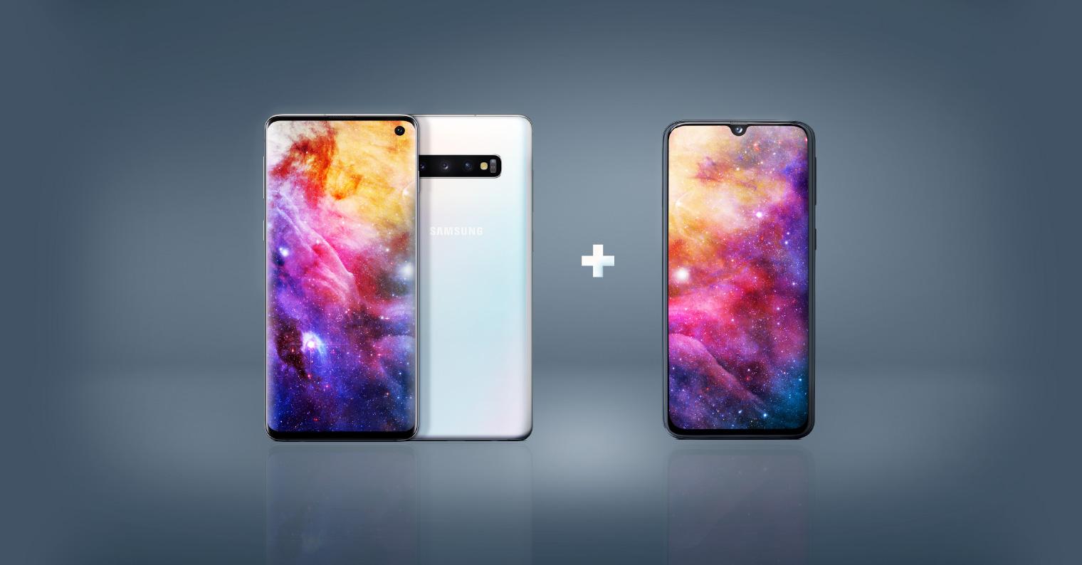 Galaxy S10 + Galaxy A40 FB