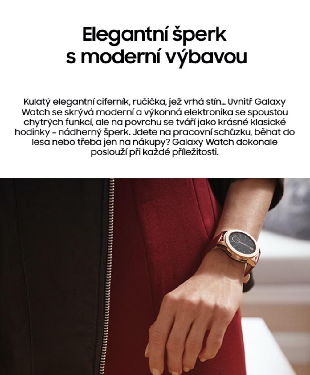 Chytré hodinky Samsung Galaxy Watch 42mm – obě barvy 2-min