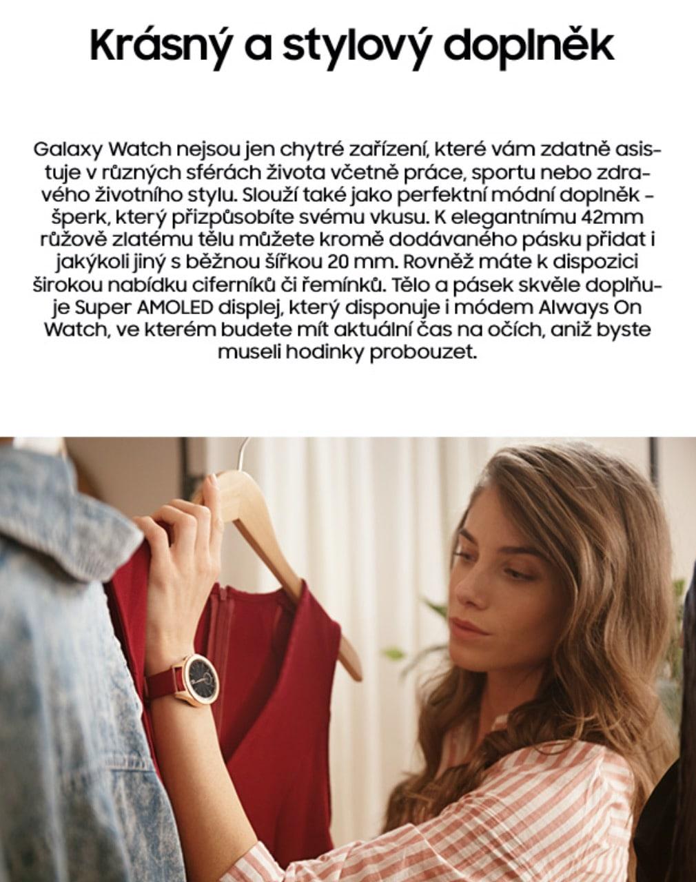Chytré hodinky Samsung Galaxy Watch 42mm – obě barvy 3-min