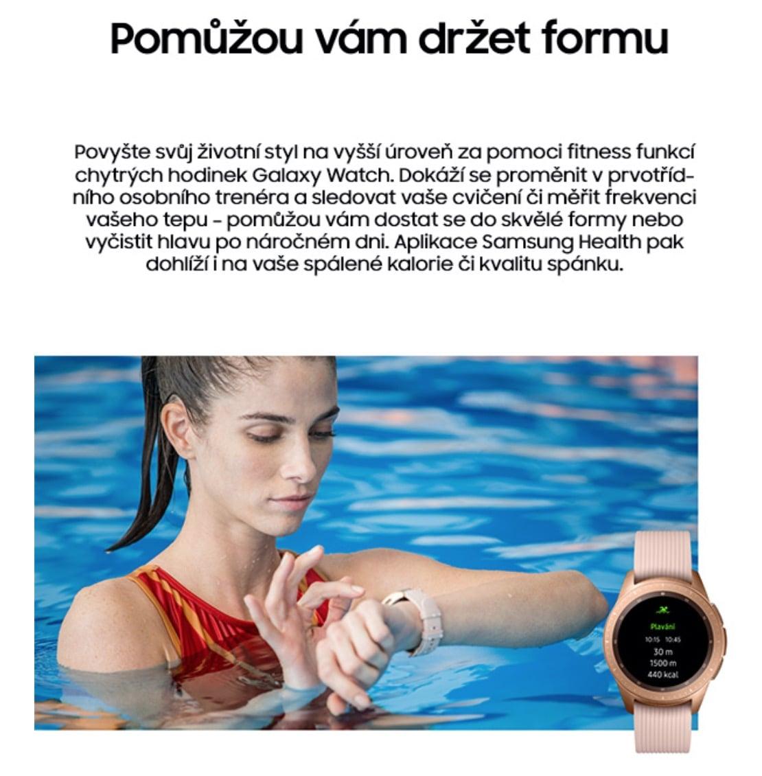Chytré hodinky Samsung Galaxy Watch 42mm - obě barvy