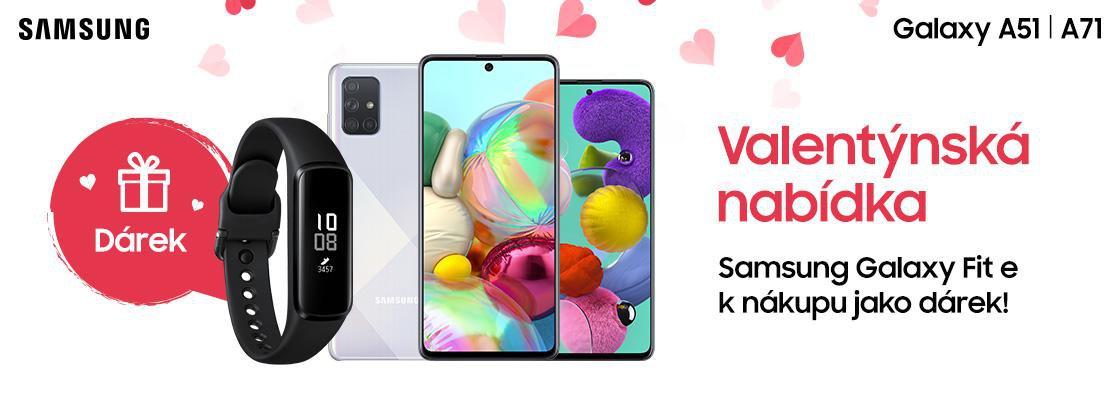 MP Valentýn –K nákupu Galaxy A51 nebo Galaxy A71 chytrý náramek Galaxy Fit e jako dárek