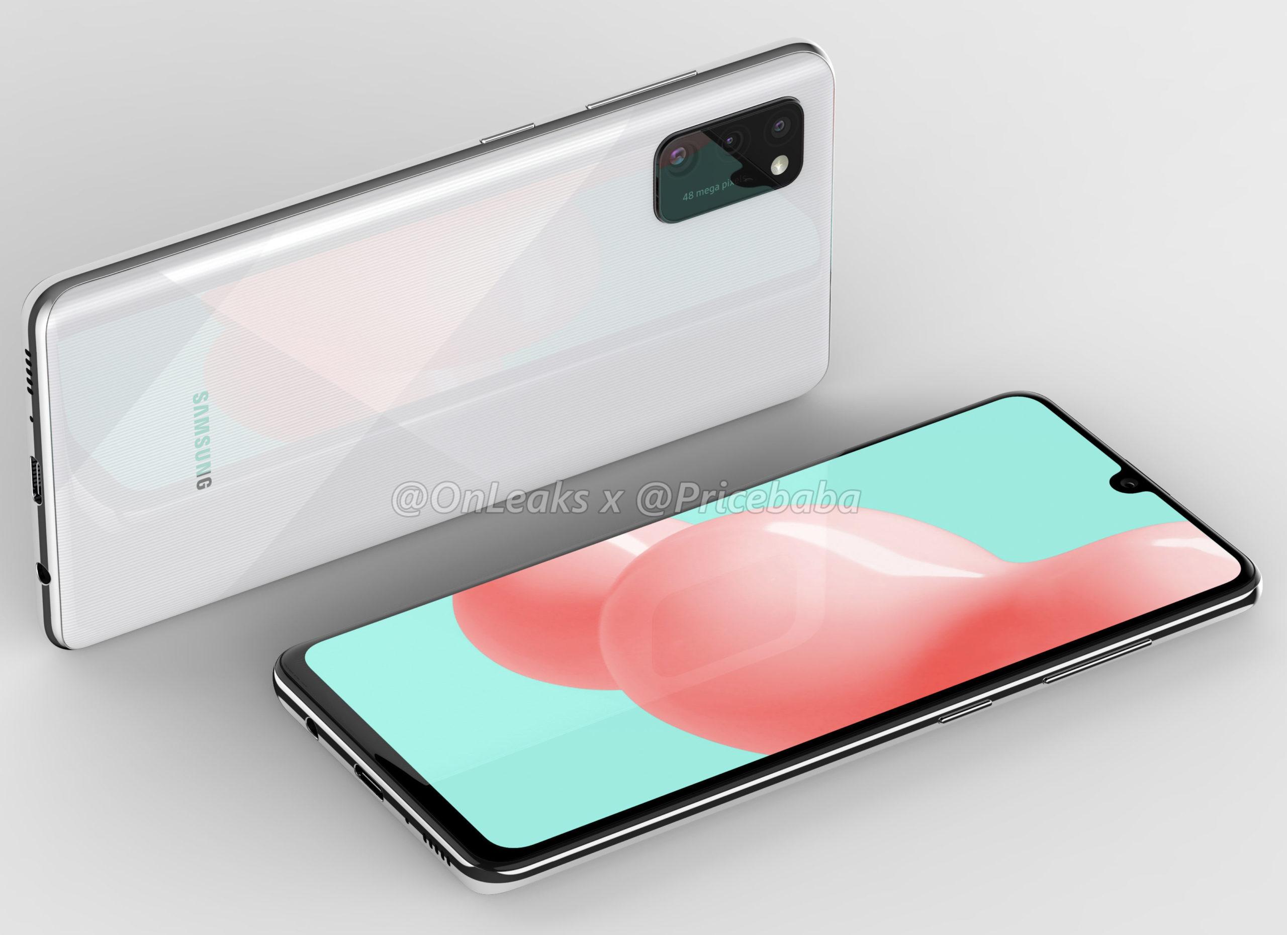 Samsung Galaxy A41 rendery
