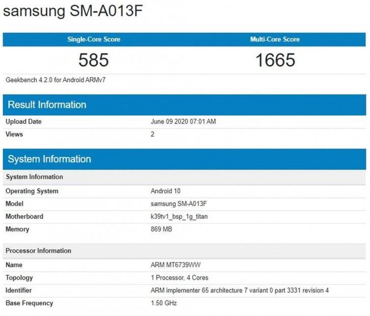 samsung galaxy a01 benchmark
